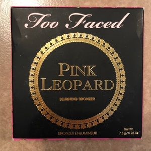 New! In Box Too Faced Pink Leopard Bronzer